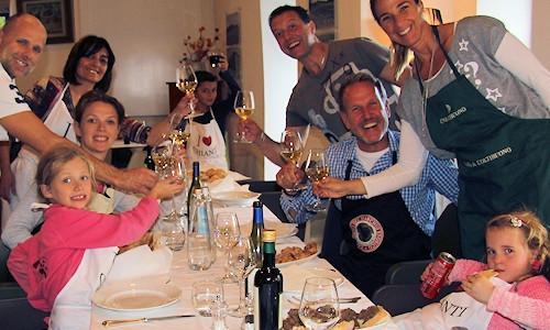 Feierlaune in der Toskana
