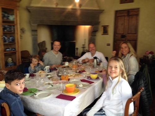 Frühstück in der Villa Sesto Fiorentino.