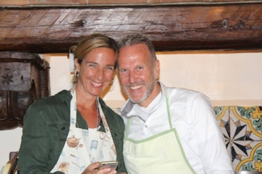 Kochkurs in der Villa Sesto Fiorentino: unsere 2 strahlenden Koch-Aspiranten.