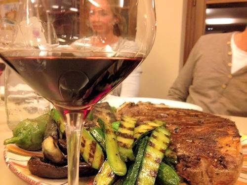 Abendessen auf dem Landgut Terricciola.