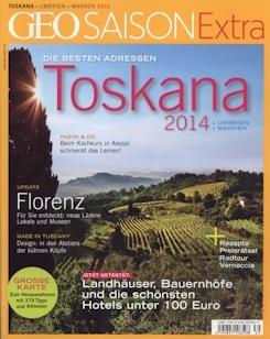 "GEO SAISON Extra ""Toskana 2014"" empfiehlt Toscana Forum"