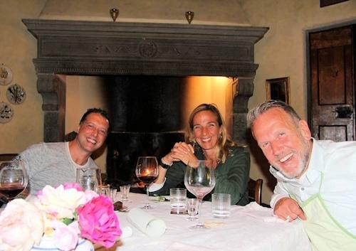 """"""" Abendessen in der Villa Sesto Fiorentino: Essen im Kaminzimmer"""" © www.toscana-forum.de"""