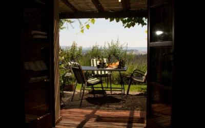 Ferienhaus Toskana 2 Blick auf die Terasse