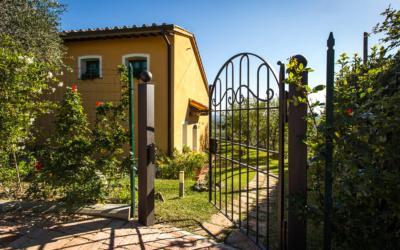 Ferienhaus Toskana 2 Gartentor
