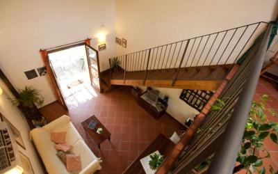 Ferienhaus Toskana 2 Wohnung Melo Blick von der Galerie 02