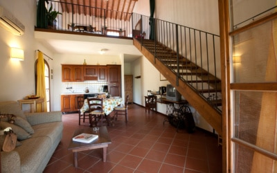 Ferienhaus Toskana 2 Wohnung Pero Wohnraum 02