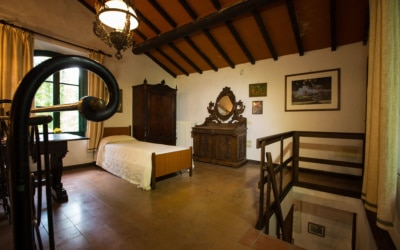 Landvilla Guardistallo Schlafzimmer 08