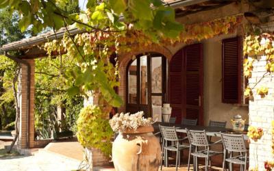 Landvilla Rapolano Terme 1 Terrasse 03