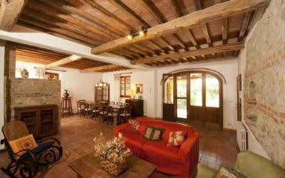Landvilla Rapolano Terme 1 Wohnraum 01