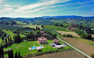 Villa Peccioli 5 Luftaufnahme 02