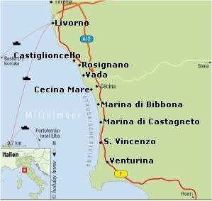 Toskana Strand Karte.Infos Meer Und Strande Toscana Forum Die Toskana Spezialisten