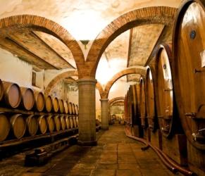 im Weinkeller der Burg Chianti