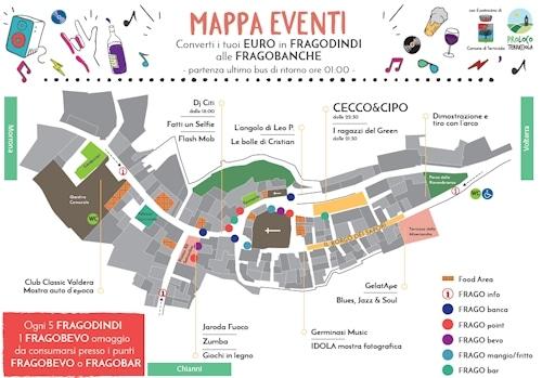 Notte Fragolosa: Mappe der Events