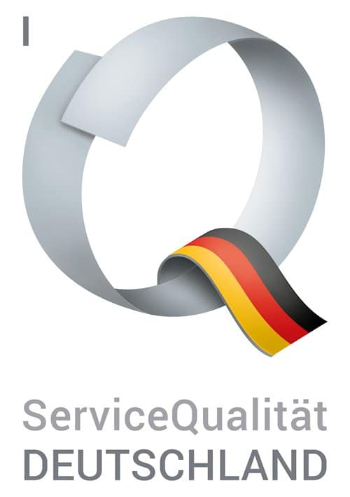 """Das """"Q"""" vonServiceQualität Deutschland."""