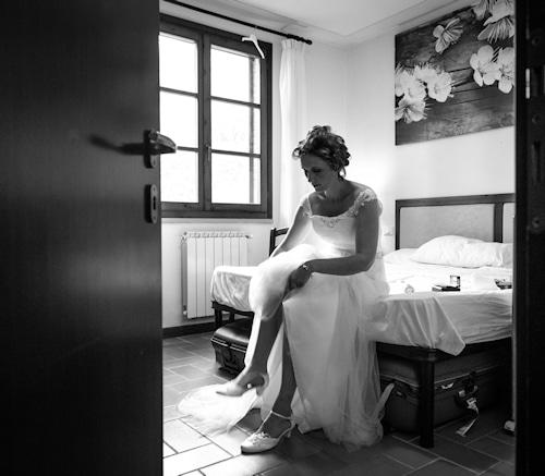 Vorbereitungen am Tag der Hochzeit