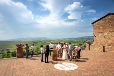 Davide bei der Hochzeit in Terricciola