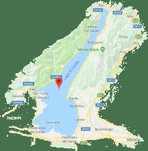 Karte vom Gardasee.