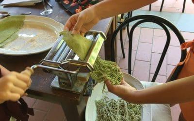 Bio-Kochkurs 18 ~ so entstehen die Spaghetti al Basilico