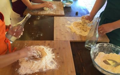 Bio-Kochkurs 21 ~ Nudelteig für Tagliatelle vorbereiten