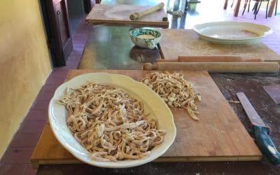 Bio-Kochkurs 25 ~ die Tagliatelle sind fertig